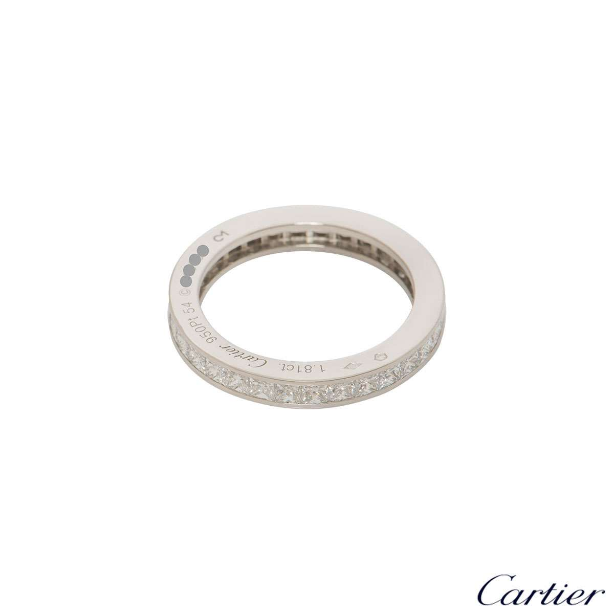 Cartier Platinum Diamond Eternity Ring 1.81ct